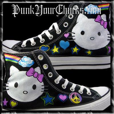 Hello Kitty 1 Custom Converse Sneakers