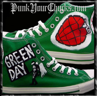 Green Day American Idiot Custom Converse Sneakers