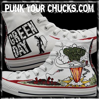 Green Day Dookie Custom Converse Sneakers