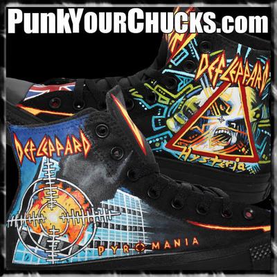 Def Leppard Custom Converse Sneakers