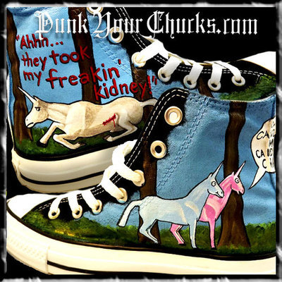 Charlie the Unicorn Custom Converse Sneakers