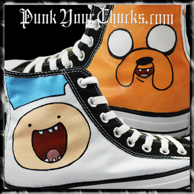 Adventure Time Custom Converse Sneakers