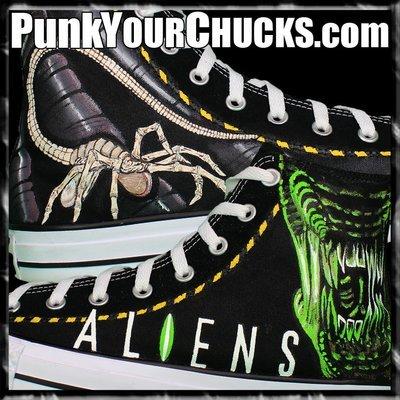 Aliens Custom Converse Sneakers