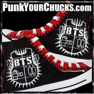 BTS Custom Converse Sneakers
