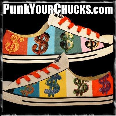 Andy Warhol Money Custom Converse Sneakers