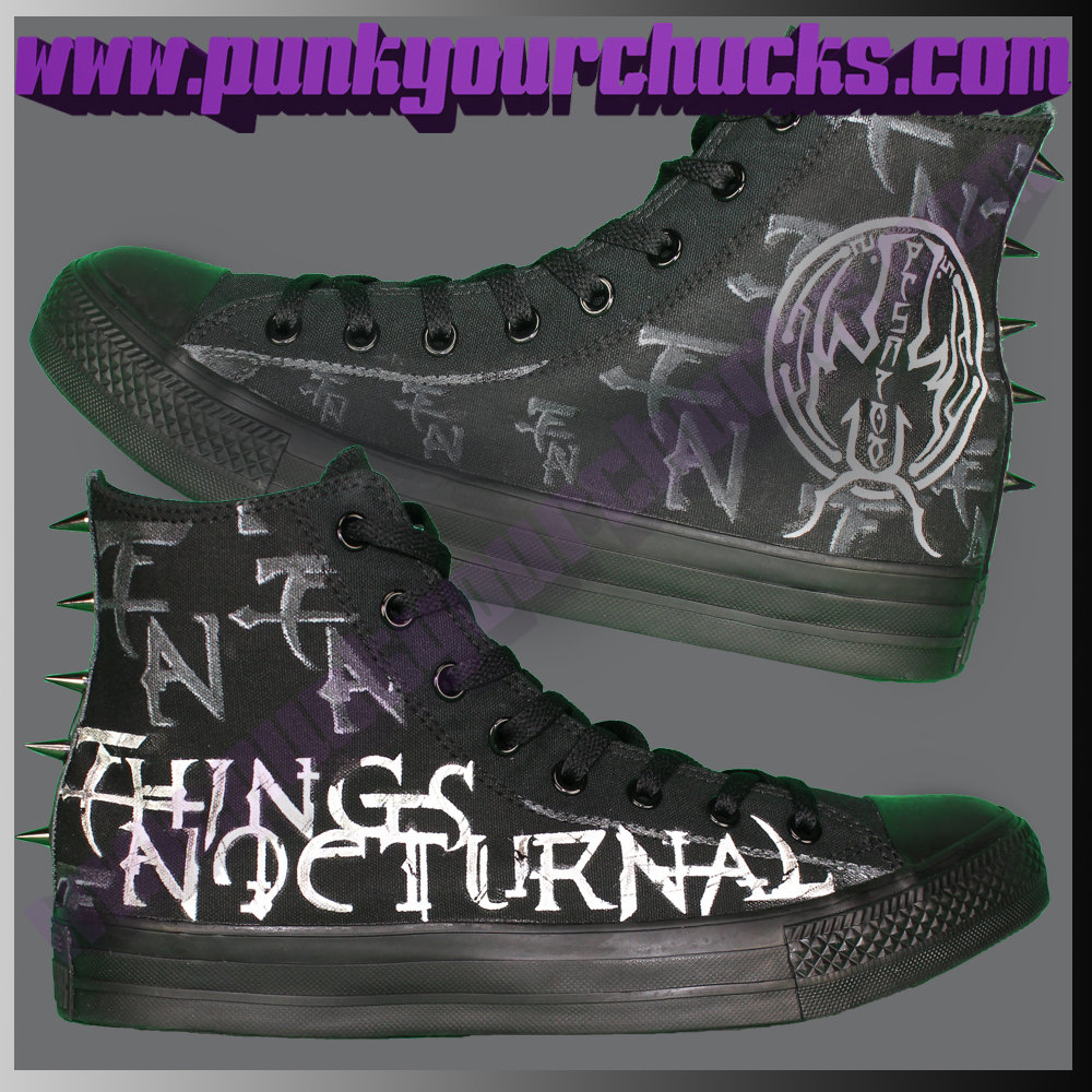 Heavy Metal Band with SPIKES Custom Converse Sneakers