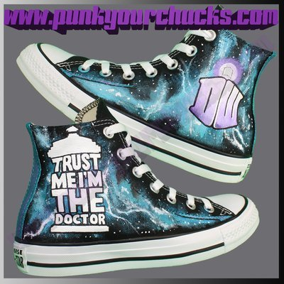 Dr. Who Custom Converse Sneakers
