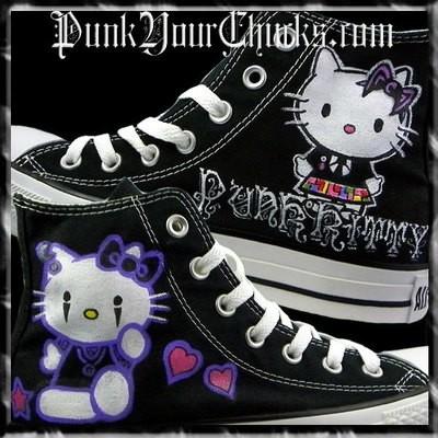 Hello Kitty 2 Custom Converse Sneakers