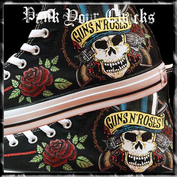 Guns n Roses 2 Custom Converse Sneakers