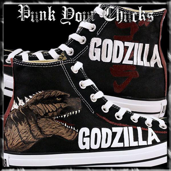 Godzilla Custom Converse Sneakers