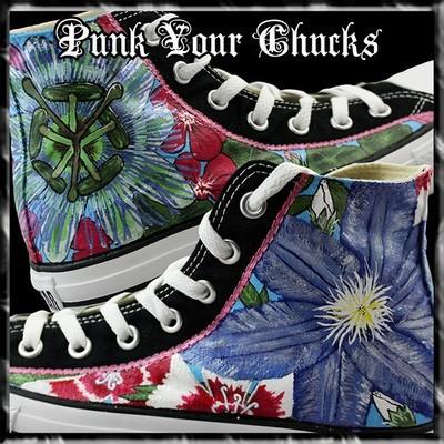 Floral Custom Converse Sneakers