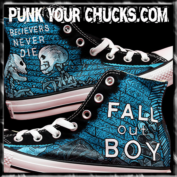 Fall Out Boy Custom Converse Sneakers