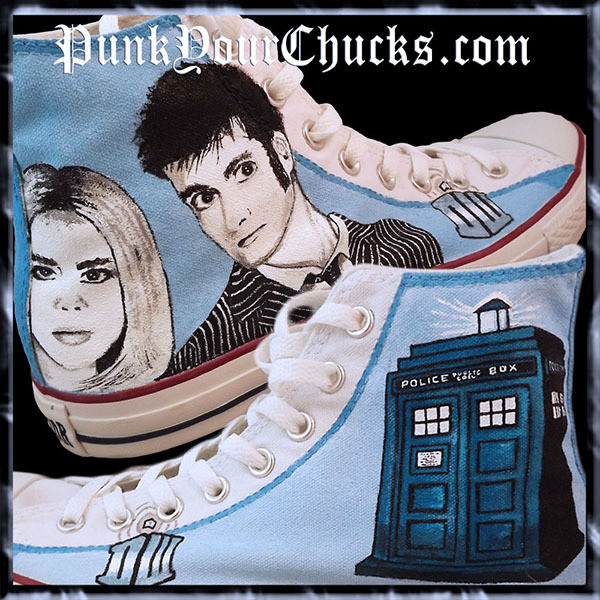 Doctor Who Custom Converse Sneakers