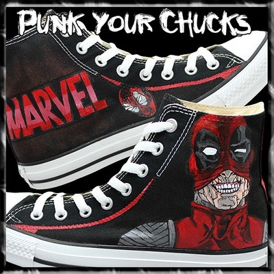 Deadpool 3 Custom Converse Sneakers