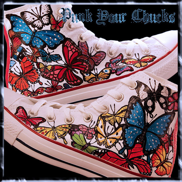 Butterfly Custom Converse Sneakers