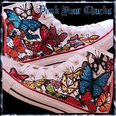 Butterfly Custom Converse Sneakers