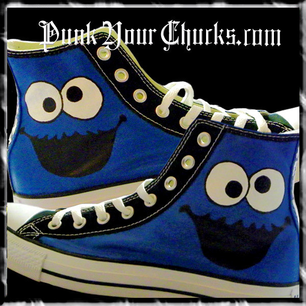 Cookie Monster Custom Converse Sneakers