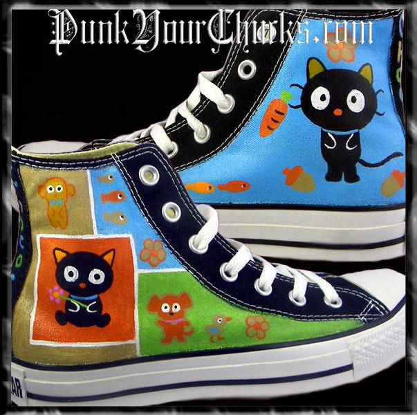 Chococat Custom Converse Sneakers