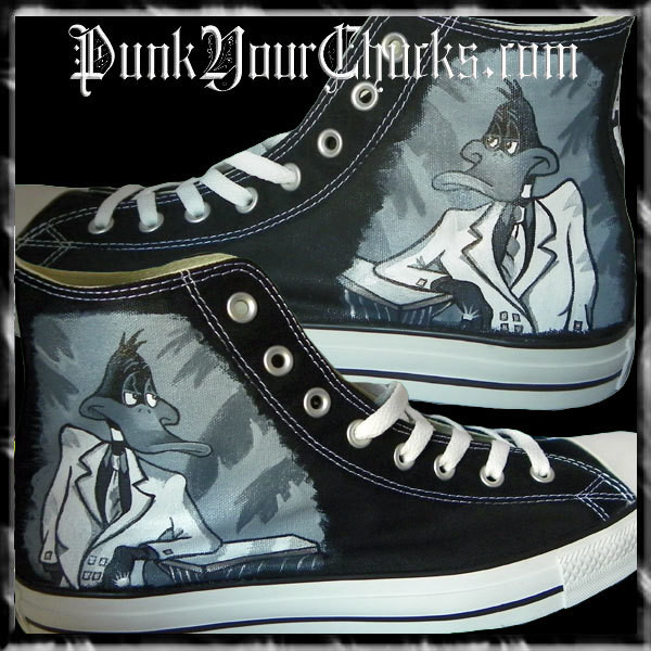 Daffy Duck Custom Converse Sneakers