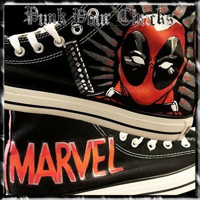 Deadpool 1 Custom Converse Sneakers