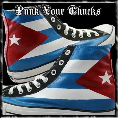 Cuban Flag Custom Converse Sneakers