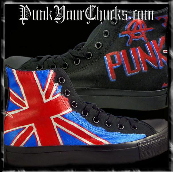 British Flag Custom Converse Sneakers