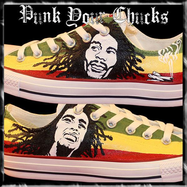 Bob Marley Low Top Custom Converse Sneakers