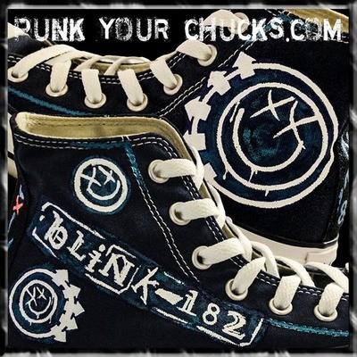 Blink 182 Custom Converse Sneakers