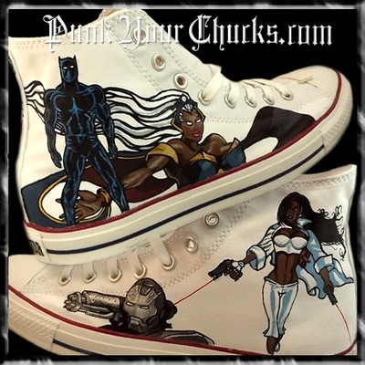 Black Avengers Custom Converse Sneakers