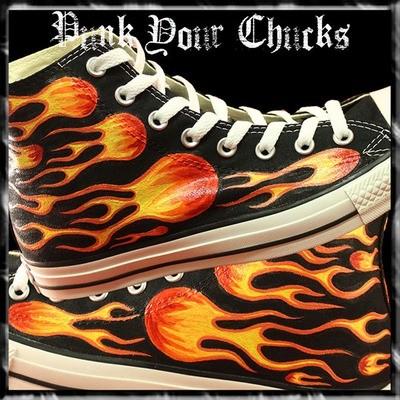 Biker Flames Custom Converse Sneakers