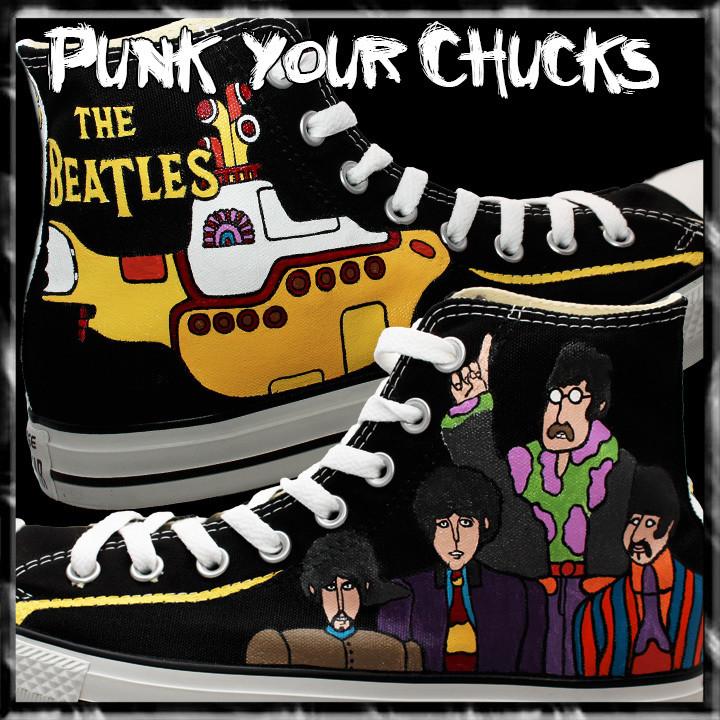 Beatles Yellow Submarine Custom Converse Sneakers