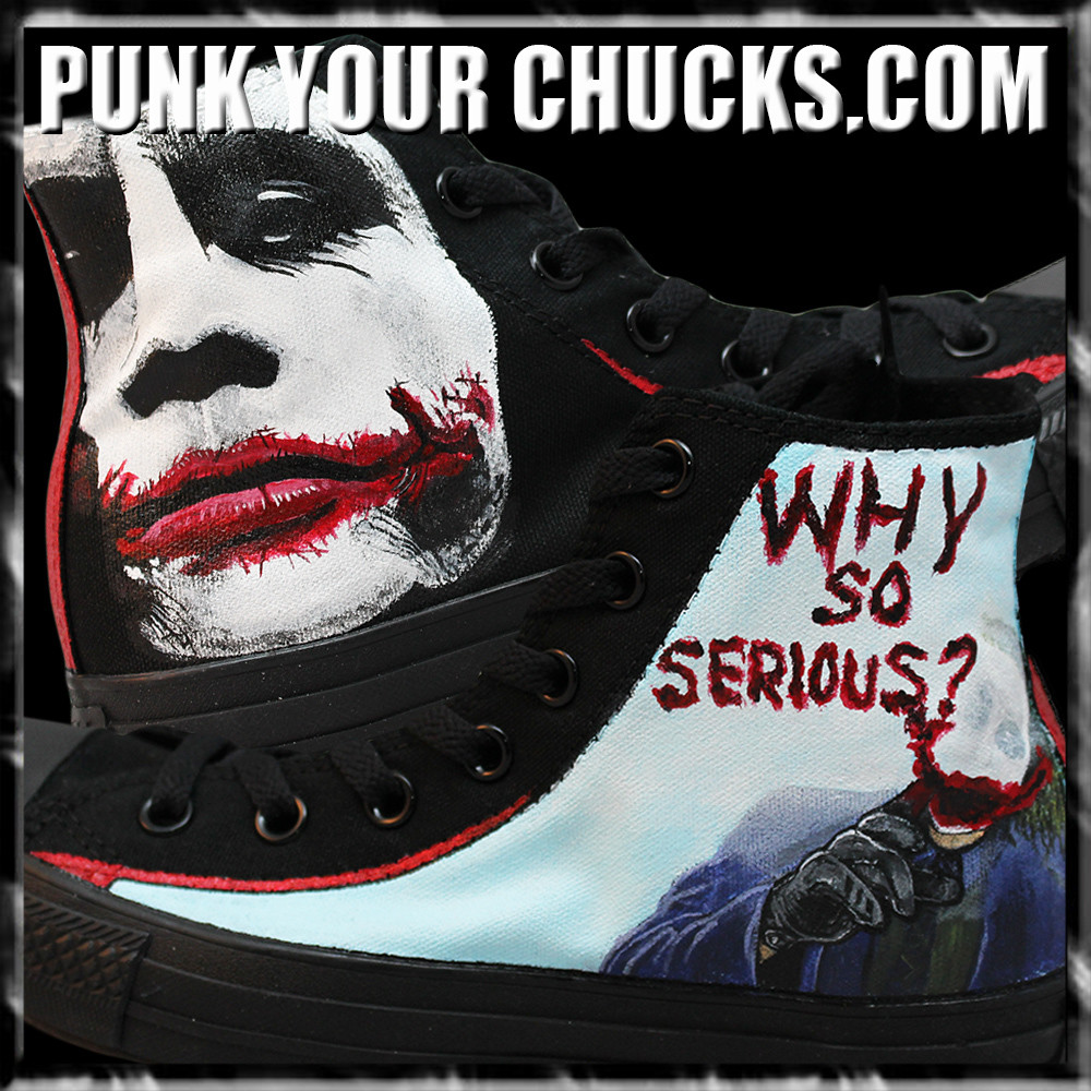 Batman the Joker Custom Converse Sneakers
