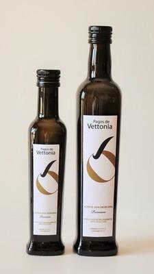 250 ml Pagos de Vettonia. Aceite de Oliva Virgen Extra. (Manzanilla Cacereña. Las Arribes del Duero)