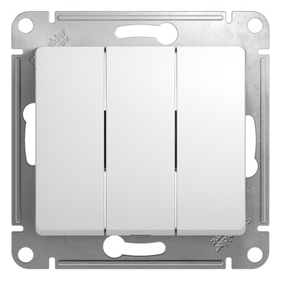 Выключатель механизм Schneider Electric Glossa сх.3 3-клавишный белый GSL000131