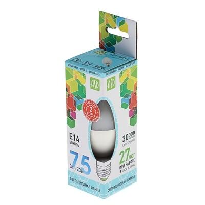 Лампа светодиодная свеча 7.5ВТ 230В Е14
