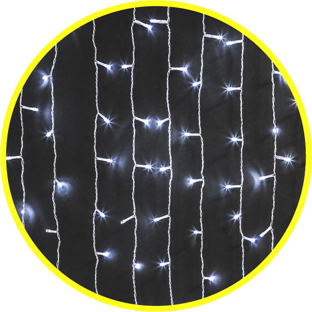 Гирлянда внутренняя Занавес 1.5x1.5м Белый постоянное свечение