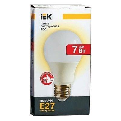 Лампа светодиодная ECO A60 шар 7Вт 230В E27 IEK