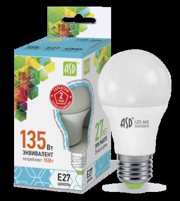 Лампа светодиодная 15ВТ 230В А60 Е27