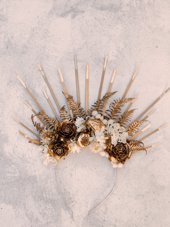 Dried Floral Headband