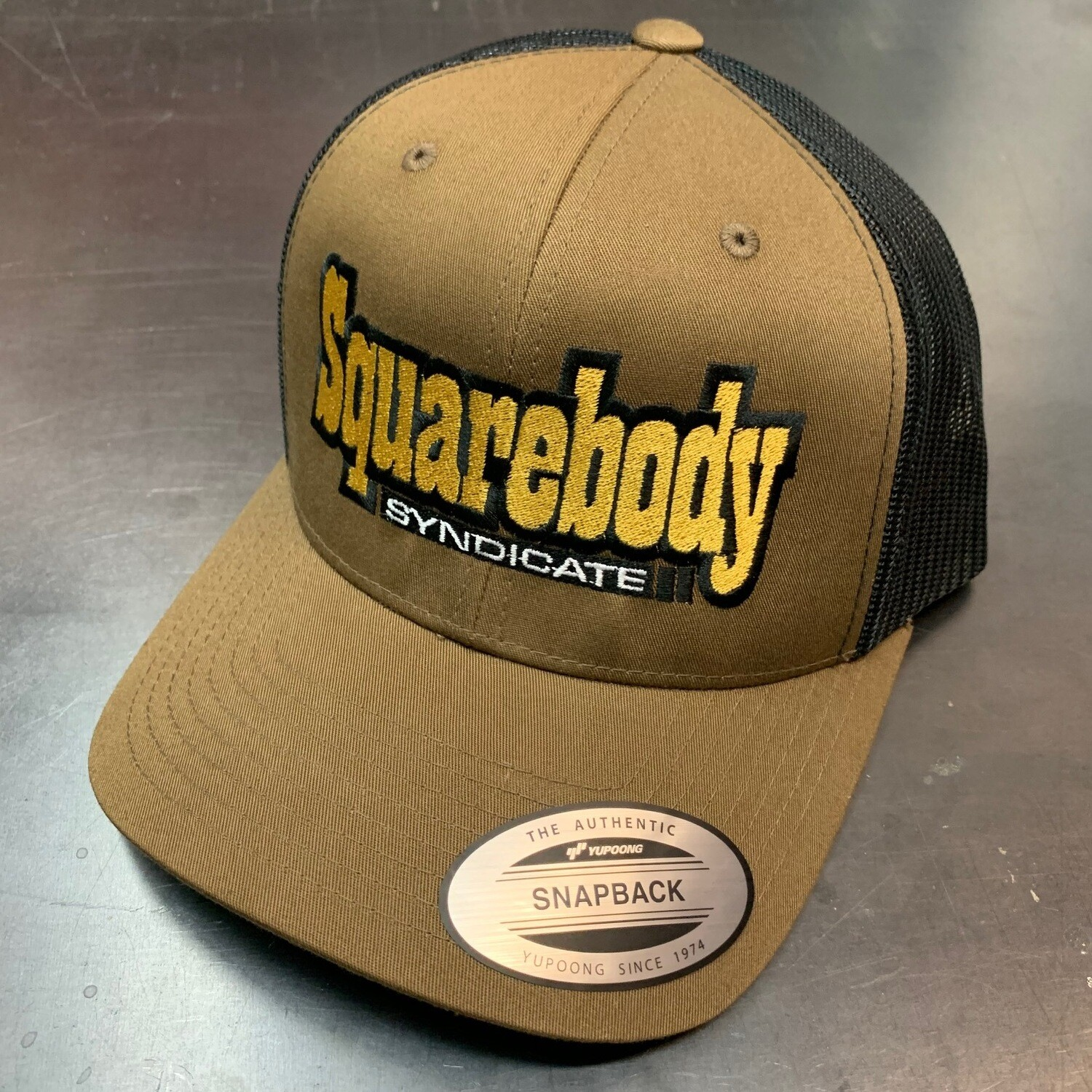 NEW LIMITED COYOYE BROWN AND BLACK SNAPBACK RETRO TRUCKER MESH SBS LOGO #2 HAT