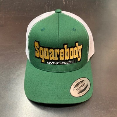 THE GREEN MACHINE SNAPBACK RETRO TRUCKER MESH SBS LOGO #2 HAT