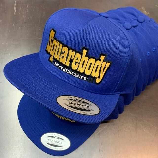 LIMITED ROYAL BLUE WOOL BLEND SNAPBACK MESH SBS LOGO #2 HAT