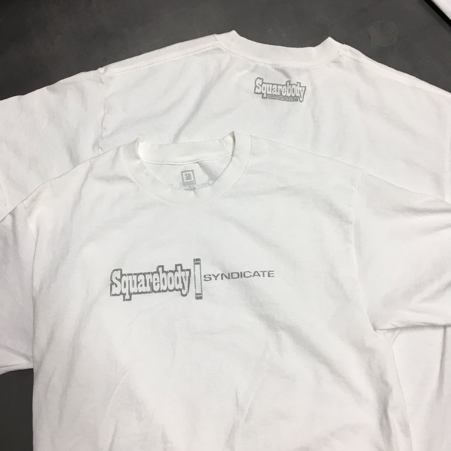 HEAVY DUTY 6 OZ WHITE SHIRT WITH GRAY SBS LOGO #1