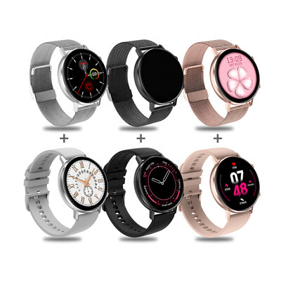 2021 Full touch round screen DT96 smart watch IP67