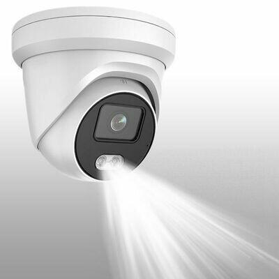 4MP Extreme Low Light IP POE Weatherproof Turret Camera W/ Integrated Flood Light & Microphone MVN-NITECOLOR-DM2