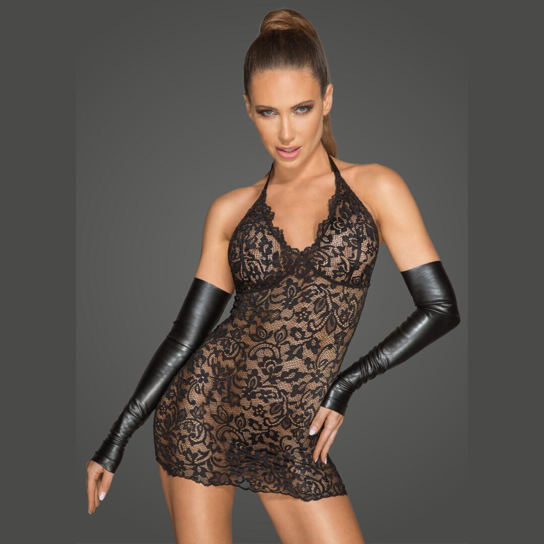 Sexy Sheer Lace Deep Neckline Dress Rebellious Tigress