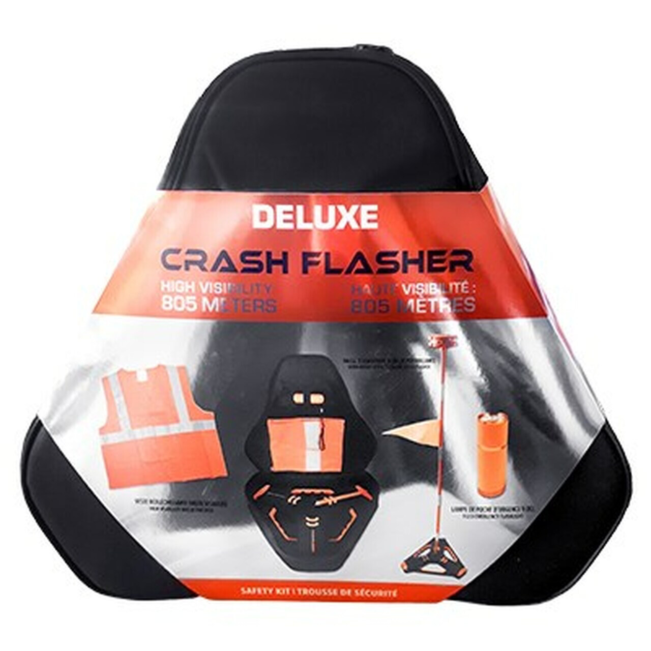 Crash Flasher Safety Kit (High Visibility up to 850 Meters)