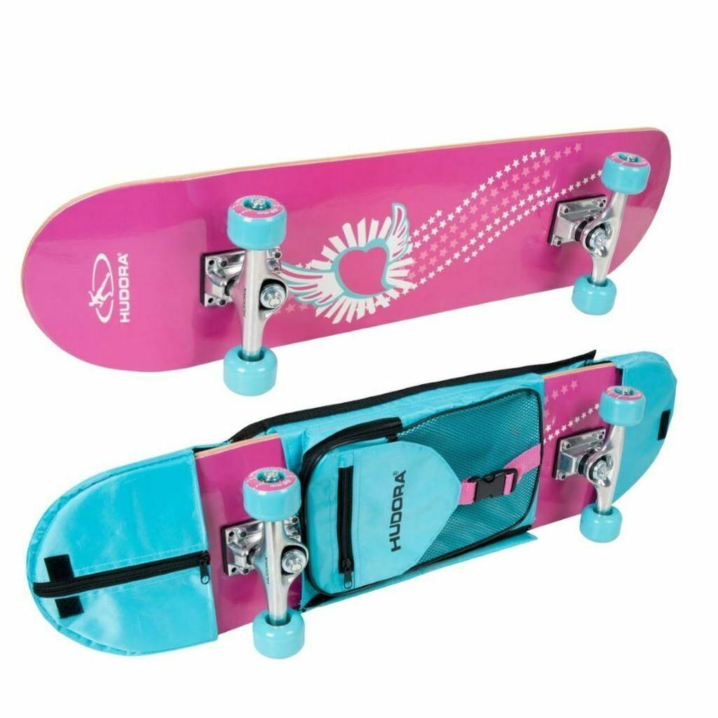 Hudora Skateboard Skate Wonders ABEC 3 mit Rucksack