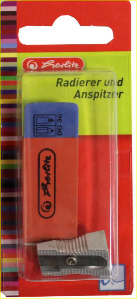 Herlitz Anspitzer Metall + Radierer