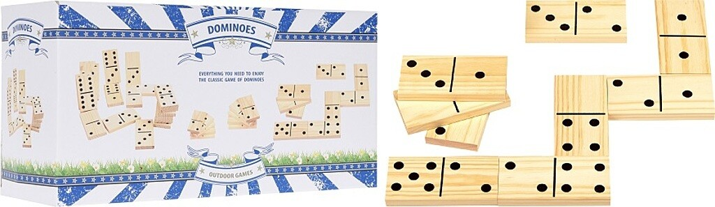 Free and Easy Riesen Domino aus Holz 28tlg.